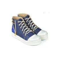 Sepatu Kets / Sneakers Kasual Wanita jeans biru Java Seven BRI 113 ori