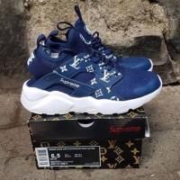 Nike Air Huarache X LV Supreme NAVY Sepatu Sneakers Wanita