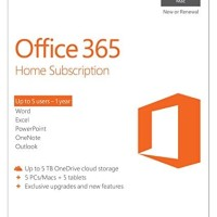 OFFICE 365 HOME SUBSCRIBTION 1 YEARS FPP