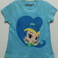 Baju kaos karakter anak perempuan disney 7-10