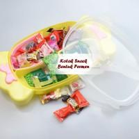 Toples Unik Bentuk PERMEN / Kotak Snack kedap udara