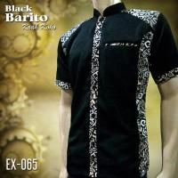 BATIK KOKO KOMBINASI HITAM | EX-065 | Seragam Batik Eksklusif