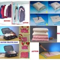 Wenbo Vakum plastik pakaian serbaguna 8 kantong + Free Pompa/ Vacuum