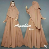 MODEL BARU Gamis Baju Pakaian Wanita Muslim Ayushita Syari AWET