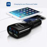 Fast Charger 3.0 Car Charger Dual USB 2.4A POWSTRO