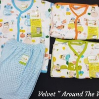 Setelan Pendek SML Velvet Junior Animal Baju tidur Bayi Piyama