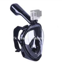Full face snorkel mask/snorkeling/snorkle/masker selam mouting GoPro