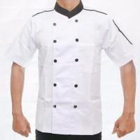 Promo Kemeja Kerja Juru Masak baju Seragam chef koki pria dan wanita