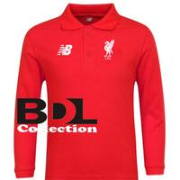 Kaos Polo Shirt New Balance LFC Merah Lengan Panjang