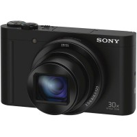 Sony Kamera WX500 dengan 30x Optical Zoom DSC-WX500 warna Hitam
