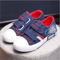 Sepatu Kets Anak Bahan Jeans (SH1849 NAVY)