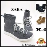 ZARA sepatu wanita Sol 3cm. Tinggi Boots 13cm Murah