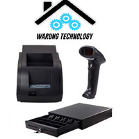 Paket Printer QPOS Q58M,Barcode Scanner EP1050,Cash Drawer 46x42cm