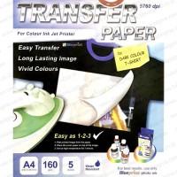T-SHIRT TRANSFER PAPER BAJU GELAP UNTUK INKJET PRINTER A4 isi NEW