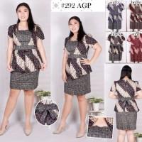 292AGP Dress Batik Jumbo Bigsize Baju Atasan Wanita Big Size Resmi