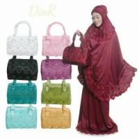 PROMO !! Mukena Sutra Satin Dior Bordir Kerancang Punggung MUKENA