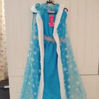 Baju Dress Anak Perempuan Elsa Frozen ukuran 110