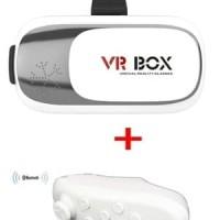 Paket Lengkap VR Box 2 + Remote Bluetooth
