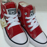 Sepatu Converse Allstars High kids warna merah import