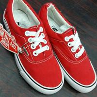 Sepatu vans anak casual keren warna merah