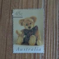 Perangko Kuno Teddy Bear (Boneka Beruang) 45 cent Jaman dulu Australia