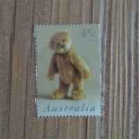 Perangko Kuno Australia Bear Doll (Boneka Beruang)