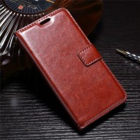 FLIP COVER WALLET case Oppo F7 Pro Plus leather casing hp dompet kulit
