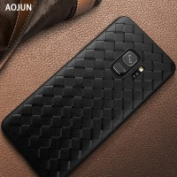 WOVEN case Samsung S9 - S9 Plus soft casing hp back cover leather tpu