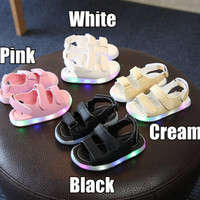 LED Sandal / Sepatu Sandal Jalan / Fashion Anak Perempuan / Laki Lampu