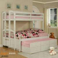PROMO Tempat tidur tingkat bed susun divan sorong duco ranjang jati 14