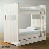 PROMO Tempat tidur tingkat bed susun divan sorong duco ranjang jati 13