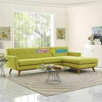 Jual PROMO Sofa tamu sudut retro L jati sofa sudut chester minimalis set 3 Murah