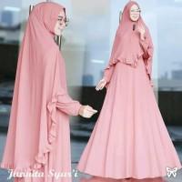 AF Maxi dress Syari /Gamis Syari /Baju Muslim Syari Terbaru Junita