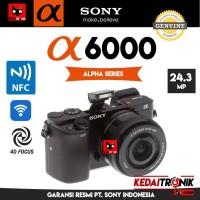 Camera Sony Alpha a6000 Kit Kamera Mirror less Pro mirrorless Wifi NFC