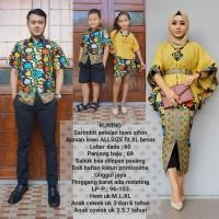 baju couple sarimbit batik keluarga muslim terbaru warna kuning BSG621