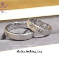 cincin couple bahan palladium 50%