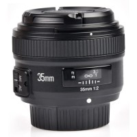 Lensa Wide Nikon YONGNUO 35mm F/2 Lens Wide Angle AF MF