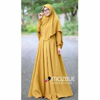 Gamis busui Kerudung murah Baju hijab Syari Maora syar i Set