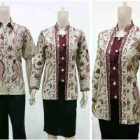 Murah Bgt !!! Sarimbit Batik Kemeja Dan Blouse Kencana Garuda --By