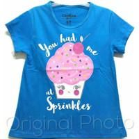 Baju kaos karakter anak perempuan oshkosh cup cake 1-6