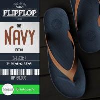 Jual Sandal Jepit Sandal Pria Sandal Flip Flop CAMOU - WR Biru/Karamel Murah