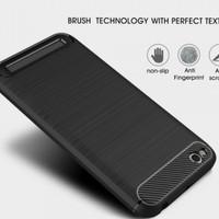 Softcase TPU Carbon Matte Black Cover Case Casing HP Oppo F5 Lentur