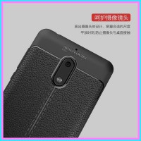 Nokia 3 5 6 case back cover casing hp kulit carbon LEATHER AUTO FOCUS