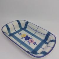 Mangkuk Porselen Persegi Motif Bunga