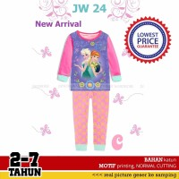 promo Setelan Baju Tidur Piyama Anak Perempuan Frozen JW24 C Kaos Len