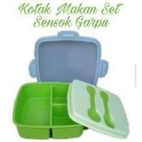 Kotak Makan Golden Sunkist Set Sendok Garpu TNK 1028