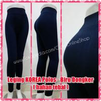 MURAH LEGGING Celana Leging KOREA Polos - Biru Dongker (bahan tebal)