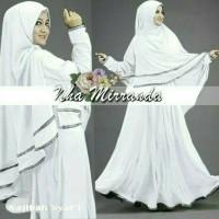 Gamis Najibah syar'i white baju muslim wanita warna putih gamis syari