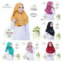 Jilbab 2018 original nuhijab formal/pesta shawl instan salvina