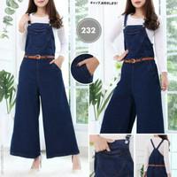 Kulot jeans jumpsuit overall werpak with inner setelan hijab celana